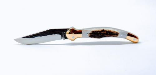 c3312cb5bc17 Fejesgörbe zsebkés kovácsolt 4116 acél pengével. Klasszikus kézi készítésű  magyar zsebkés. A penge alapanyaga megegyezik a DICK késeknél használt  1.4116 ...
